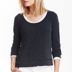 James Perse Raglan Pullover Sweater